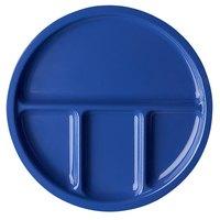 Elite Global Solutions DC1050 Rio 10 1/2 inch Winter Purple Round Four Compartment Melamine Dish   - 6/Case