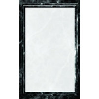 8 1/2 inch x 11 inch Black Menu Paper - Angled Marble Border - 100/Pack