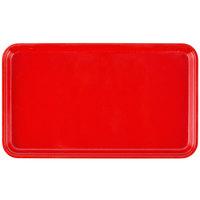 Cambro 915510 8 3/4 inch x 15 inch Rectangular Signal Red Customizable Fiberglass Camtray - 12/Case