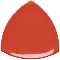 Elite Global Solutions D11T Rio Spring Coral 10 1/4 inch Melamine Triangle Plate - 6/Case