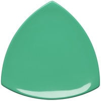 Elite Global Solutions D11T Rio Autumn Green 10 1/4 inch Melamine Triangle Plate - 6/Case