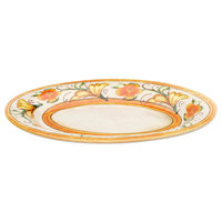 Elite Global Solutions D912OV Tuscany 12 inch x 8 1/4 inch Design Oval Melamine Platter - 6/Case