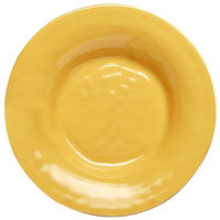 Elite Global Solutions D9PB Tuscany 14 oz. Mustard Yellow Melamine Soup / Pasta Bowl - 6/Case