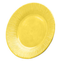 Elite Global Solutions D1214TE Beach Bums Yellow 12 inch Round Melamine Plate