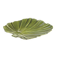 Elite Global Solutions M14PL Naturals Design Green 14 inch Palm Leaf Melamine Platter