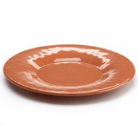 Elite Global Solutions D10P Tuscany 10 1/4 inch Sunburn Terra Cotta Melamine Plate
