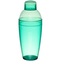 Fineline 4103-GRN Quenchers 14 oz. Green Plastic Shaker - 24/Case