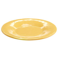 Elite Global Solutions D8P Tuscany 8 1/2 inch Mustard Yellow Melamine Plate - 6/Case