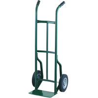 Harper 50T60 Dual Handle 600 lb. Steel Hand Truck with 10 inch x 2 1/2 inch Solid Rubber Wheels