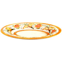 Elite Global Solutions D1013OV Tuscany 14 7/8 inch x 10 3/8 inch Design Oval Melamine Platter - 6/Case