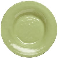 Elite Global Solutions D9PB Tuscany 14 oz. Weeping Willow Green Melamine Soup / Pasta Bowl - 6/Case