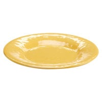 Elite Global Solutions D11P Tuscany 11 1/4 inch Mustard Yellow Melamine Plate