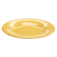 Elite Global Solutions D11P Tuscany 11 1/4 inch Mustard Yellow Melamine Plate - 6/Case