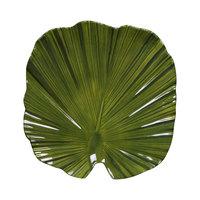 Elite Global Solutions D873PL Tropicana Design Green 8 inch x 7 3/4 inch Palm Leaf Melamine Plate - 6/Case