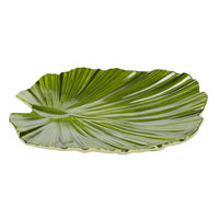 Elite Global Solutions D1110PL Tropicana Design Green 11 inch x 10 inch Palm Leaf Melamine Plate - 6/Case