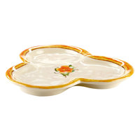 Elite Global Solutions D825P Tuscany 8 inch Design Melamine Three Compartment Plate