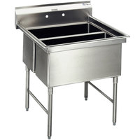 Eagle Group SFN2832-2-14/3 Two 32 inch x 14 inch Sideways Bowl Stainless Steel Spec-Master Commercial Compartment Sink