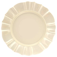 Elite Global Solutions D111 Country Fixin's Antique White 11 3/4 inch Round Melamine Plate
