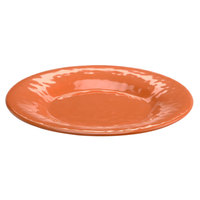 Elite Global Solutions D12P Tuscany 12 1/4 inch Sunburn Terra Cotta Melamine Plate - 6/Case