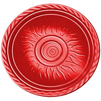 Elite Global Solutions V121 Hot Cha-Cha Red 12 inch Round Plate - 6/Case