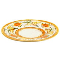 Elite Global Solutions D11P Tuscany 11 1/4 inch Design Melamine Plate - 6/Case