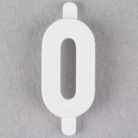 3/4 inch White Molded Plastic Number 0 Deli Tag Insert - 50/Set