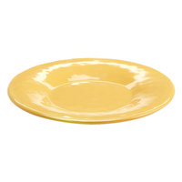Elite Global Solutions D7P Tuscany 7 1/2 inch Mustard Yellow Melamine Plate - 6/Case