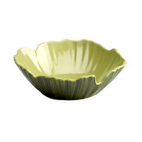 Elite Global Solutions M124PL Tropicana Design Design Green 2.25 Qt. Palm Leaf Melamine Bowl
