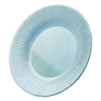 Elite Global Solutions D1214TE Beach Bums Aqua 12 inch Round Melamine Plate