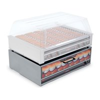 Nemco 8075-BW Moist Heat Hot Dog Bun Warmer for 8075 Series Roller Grills - Holds 64 Buns