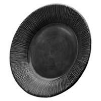 Elite Global Solutions D10TE Beach Bums Black 10 inch Round Melamine Plate
