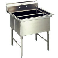 Eagle Group SFN3052-3-18-14/3 Two 32 inch x 14 inch Sideways and One 20 inch x 30 inch Regular Bowl Stainless Steel Spec-Master Commercial Compartment Sink with 18 inch Drainboard