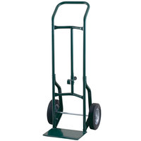 Harper 52DA60 Continuous Handle 600 lb. Steel Hand / Drum Truck with Chime Hook and 10 inch x 2 1/2 inch Solid Rubber Wheels