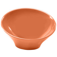 Elite Global Solutions M75 Pappasan Sunburn Terra Cotta 18 oz. Slanted Melamine Bowl