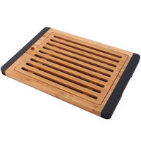 Elite Global Solutions BB1510B Bamboards 15 inch Slim Bamboo Cutting Board with Brown Trim