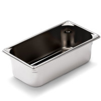 Vollrath 70342 Super Pan V 1/3 Size Anti-Jam Stainless Steel SteelCoat x3 Non-Stick Steam Table / Hotel Pan - 4 inch Deep