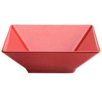 Elite Global Solutions M1212SQ Symmetry Cranberry 4.75 Qt. Square Melamine Bowl