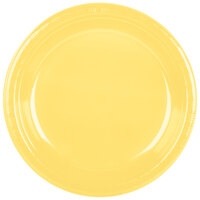 Creative Converting 28102031 10 inch Mimosa Plastic Banquet Plate - 240 / Case