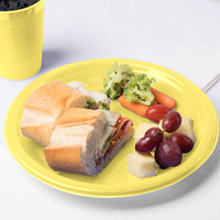 Creative Converting 28102031 10 inch Mimosa Yellow Plastic Plate - 240/Case