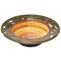 Elite Global Solutions V9525 Artist 24 oz. Melamine Bowl with Leaf Cutout Pattern