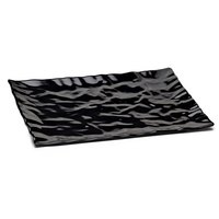 Elite Global Solutions M11181 Crinkled Paper Black 18 inch x 11 1/2 inch Rectangular Melamine Tray