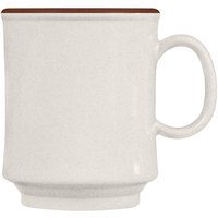 GET TM-1308-U Ultraware 8 oz. Ironstone and Brown Tritan Stacking Mug - 24 / Case