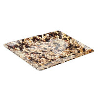 Elite Global Solutions M1811RC Rock On Brown River Rock 18 inch 11 1/2 inch Rectangular Platter