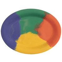 GET OP-950-CE Diamond Celebration 9 3/4 inch x 7 1/4 inch Oval Platter - 24/Case