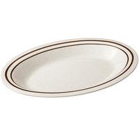 GET OP-220-U Ultraware 12 inch x 9 inch Ironstone Oval Platter - 24/Case