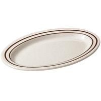 GET OP-215-U Ultraware 11 1/2 inch x 8 inch Ironstone Oval Platter - 24/Case