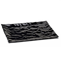 Elite Global Solutions M1471 Crinkled Paper Black 14 7/8 inch x 7 5/8 inch Rectangular Melamine Tray