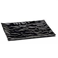 Elite Global Solutions M1471 Crinkled Paper Black 14 7/8 inch x 7 5/8 inch Rectangular Melamine Tray