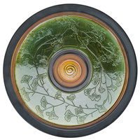 Elite Global Solutions V15 Artist 15 inch Gingko Leaf Patterned Melamine Platter