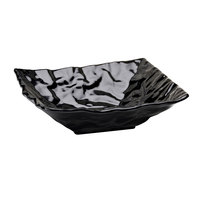 Elite Global Solutions M10102 Crinkled Paper Black 1.5 Qt. Square Melamine Bowl